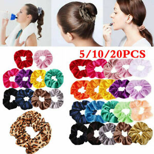 5-10-20x-Velvet-Hair-Tie-Rope-Scrunchy-Elastic-Ponytail-Scrunchies-Hair-Band-RO