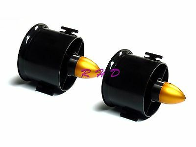 2Pack 70mm Duct Fan 3000KV Brushless Outrunner Motor for EDF RC Jet Plane