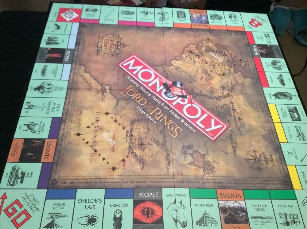The Lord of the Rings Monopoly Trilogy Edition Game Board Only Replacement