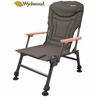 Wychwood Extremis Wooden Arm Foldable Carp Fishing Chair For Easy Transport