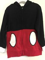 Boys Jacket Mickey Mouse Theme Size 4t Toddler Black And Red Hoodie