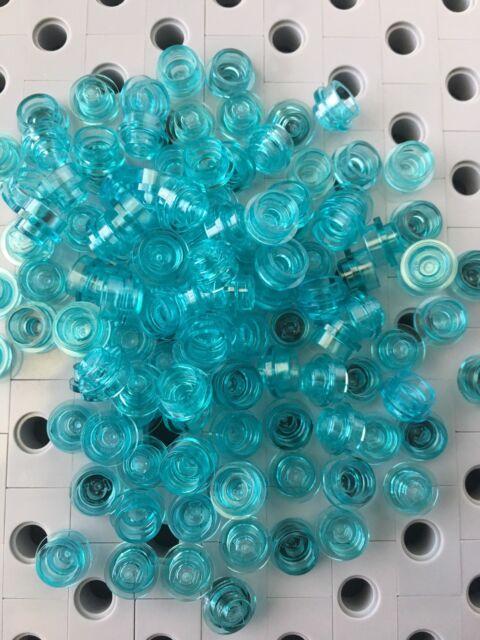 Round NEW LEGO 1 x 1 Transparent Blue Light tile x 25 smooth 1x1 TILES