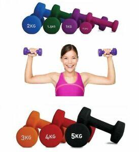 2x-Mancuernas-pesas-de-1kg-2kg-3Kg-4Kg-5Kg-6kg-vinilo-suave-ejercicio-gimnasia