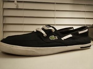 3ba4f632b1538 Image is loading Lacoste-Ramer-Boat-WJA-Shoes-BLACK-Mens-size-