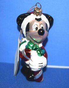 Polonaise-Mickey-Ornament-Blown-Glass-Kurt-Adler-GP392-034-AS-IS-034