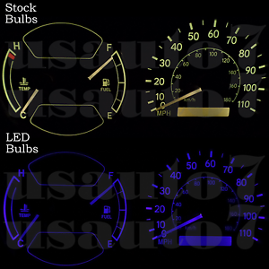 Image Is Loading Dash Cer Gauge Blue Led Light Bulbs Kit