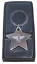 Personalised-Chunky-High-Polished-Chrome-BEE-Star-Keyring-Keychain-ENGRAVED-FREE thumbnail 1