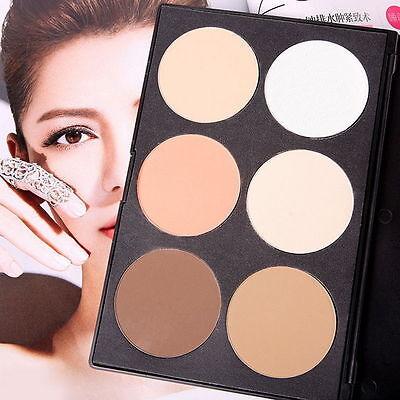 HOT 6-Color Facial Pressed Powder Contour Palette Set Makeup Facial Cosmetic OE