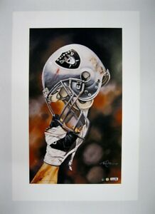 """Oakland Raiders NFL Football 20""""x 30"""" Team Lithograph Print by Kelly Russell"""