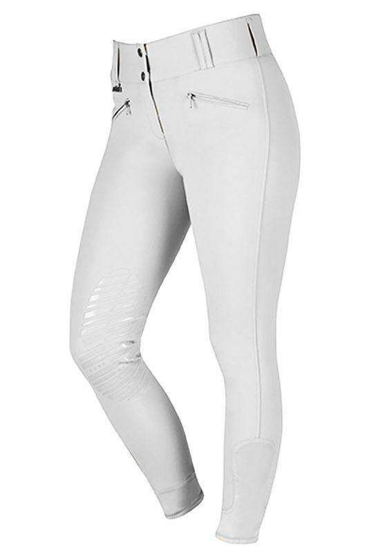 Dublin Supa Shape Heritage Euro Gel Knee Breeches - White - Size 8 26  & 12 30