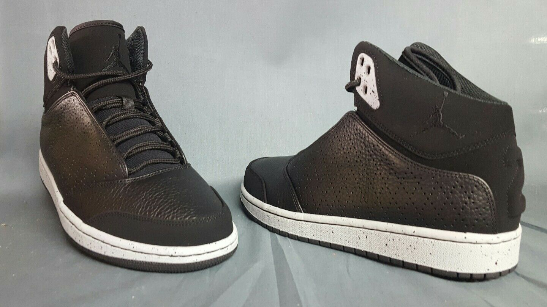 Nike jordan 1 volo 5 basket scarpe lupo nero grigio Uomo dimensioni nuove!