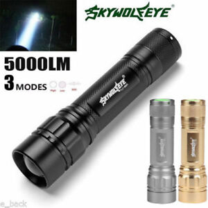 Zoomable-5000-LM-3-Modes-Flashlight-XML-XPE-LED-Torch-Lamp-18650-Focus-Light