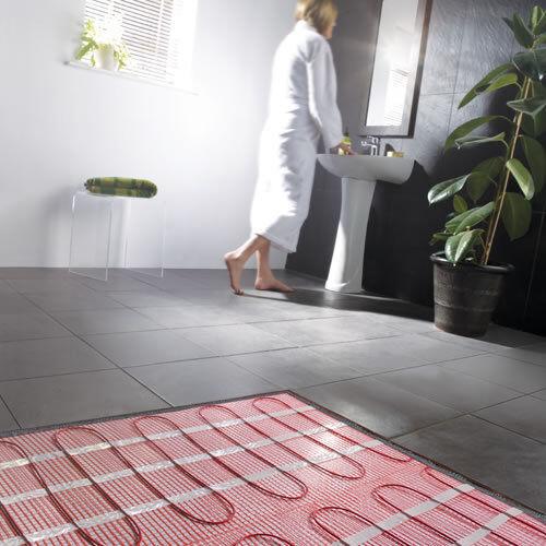 Stupendous Electric Underfloor Heating Kit Mat System Tiles 1M2 25 Year Bathroom Interior Design Ideas Jittwwsoteloinfo
