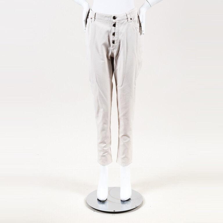 Brunello Cucinelli Cotton Blend Tapered Jeans SZ 48