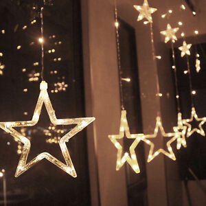 5-Colors-Christmas-12-Twinkling-Stars-LED-Lamp-Party-Fairy-String-Light-Decor
