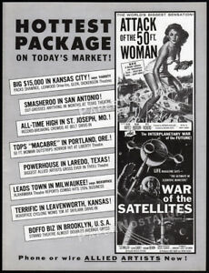 ATTACK-of-the-50-FOOT-WOMAN-Orig-1958-Trade-AD-promo-WAR-of-the-SATELLITES