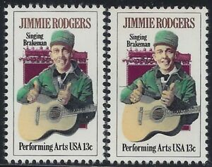 """1755 - Color Shift Error / EFO """"Jimmie Rodgers"""" Mint NH"""