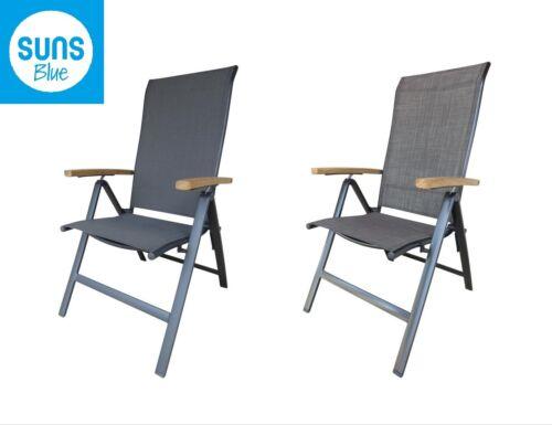 Sunsit pliante fauteuil Adri alu chaise pliante chaise de jardin résistant aux intempéries teck bois stable