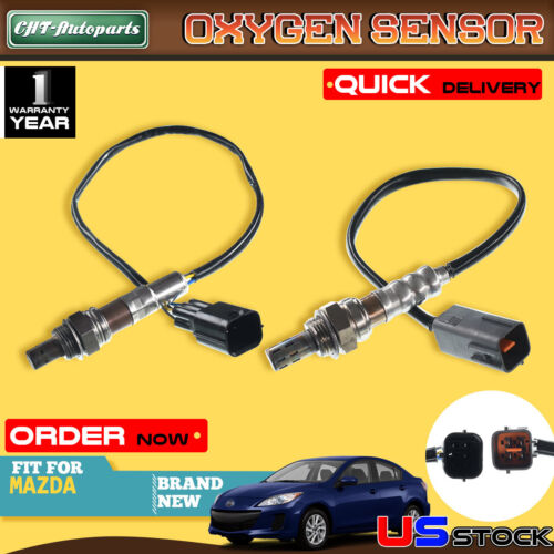 2Pcs Set O2 02 Oxygen Sensors for Mazda 3 2010-2013 L4 2.0L Upstream+Downstream
