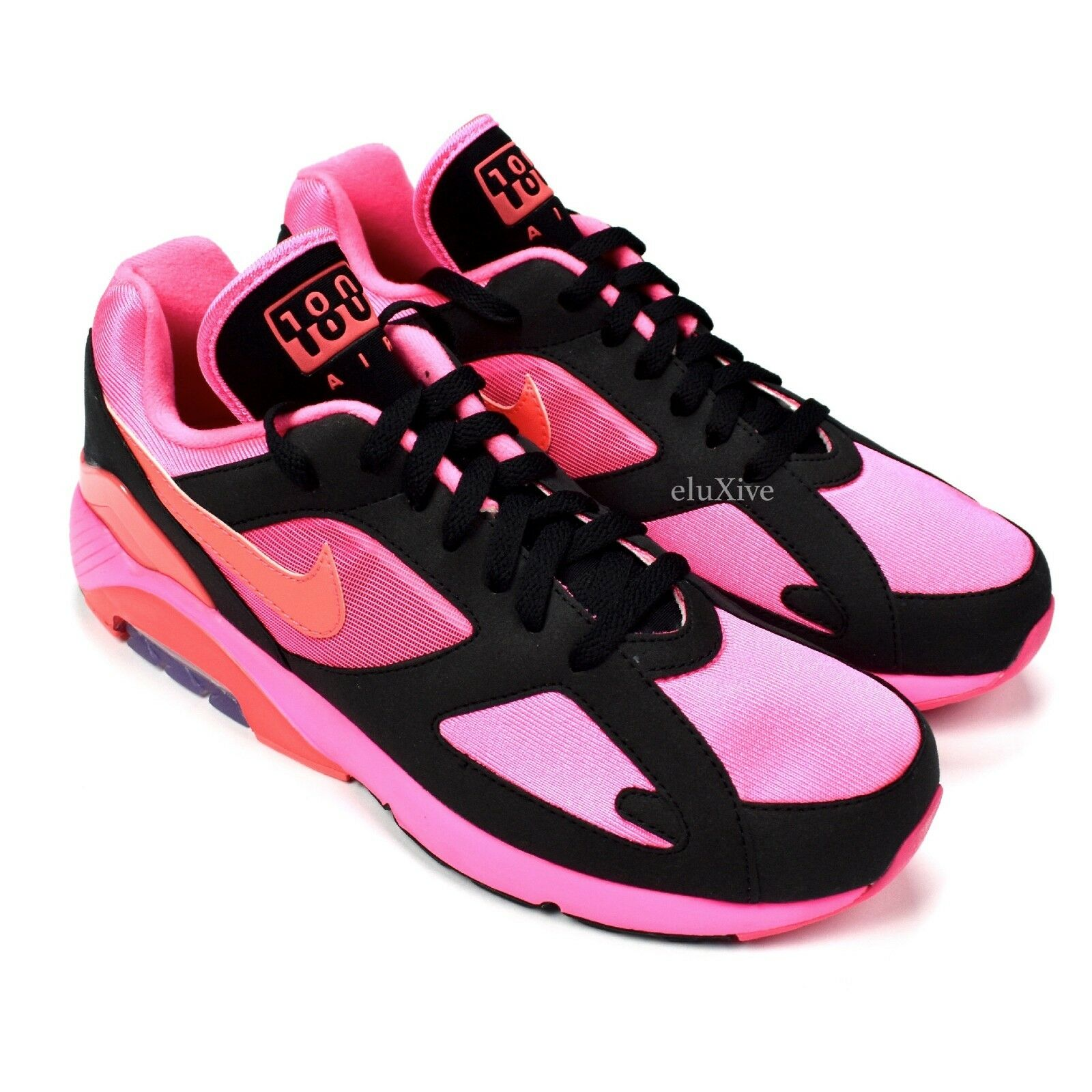 NWT Comme des Garcons Nike Air Max 180 CDG Black Pink Sneakers DS 2018 AUTHENTIC Seasonal clearance sale