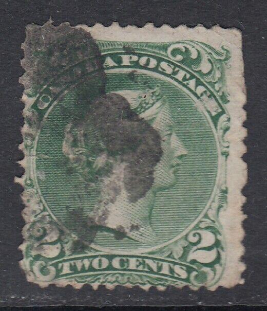 Canada Scott #24  2 cent  green