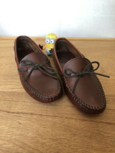 MINNETONKA MOCCASIN Brown Leather Shoes Women's 7.