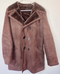 d1a835026f2 Sawyer of Napa Shearling Coat Mens Size M Western Style SS0497