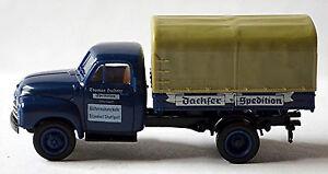 Opel-Blitz-Plataforma-Lona-1952-60-Dachser-Expedicion-1-87-Brekina