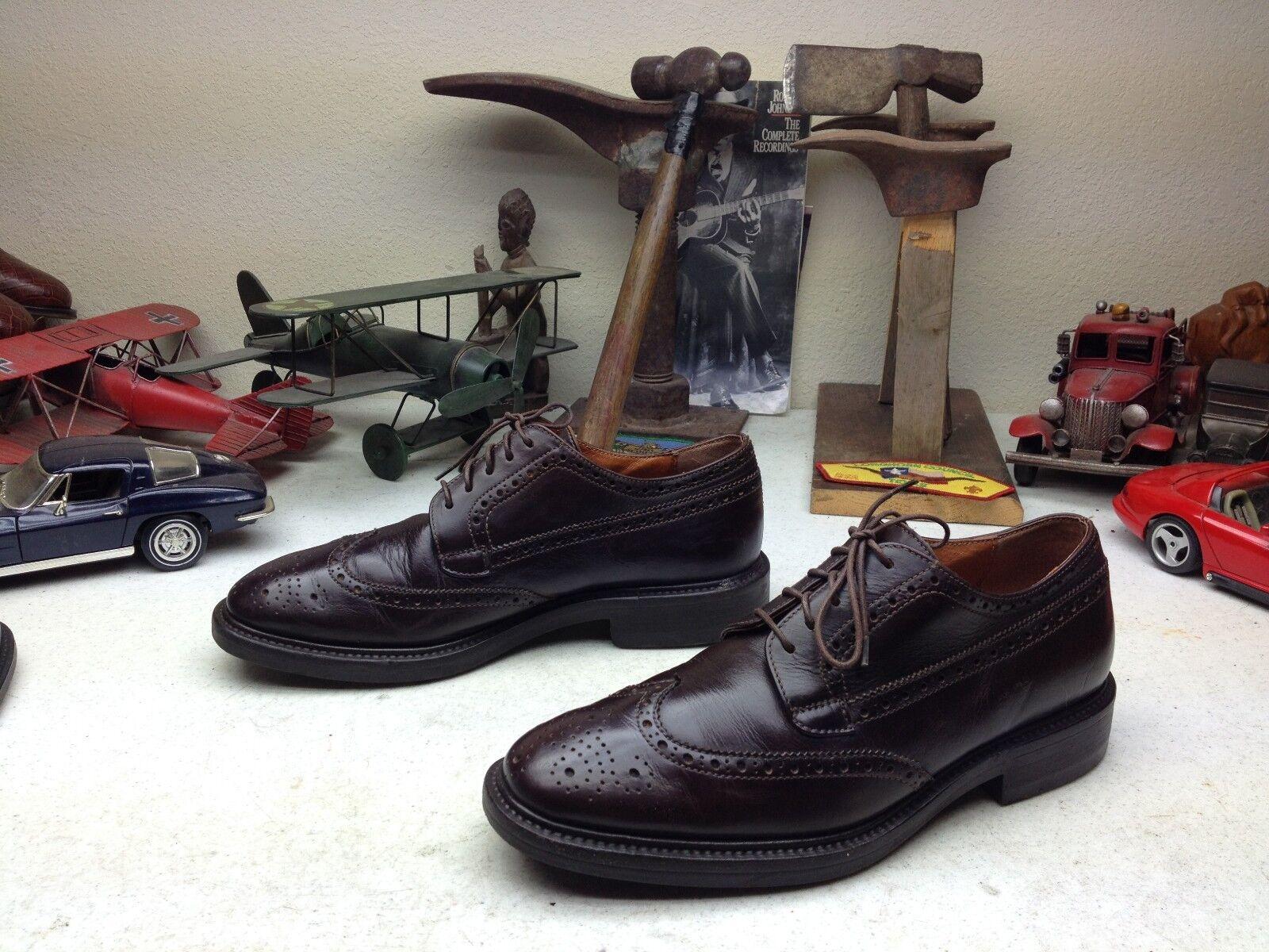Rumano J. CREW Marrones Cuero Con de Cordones Oxford Zapatos de negocios de Con extremo de ala 8.5D 6bcbe9