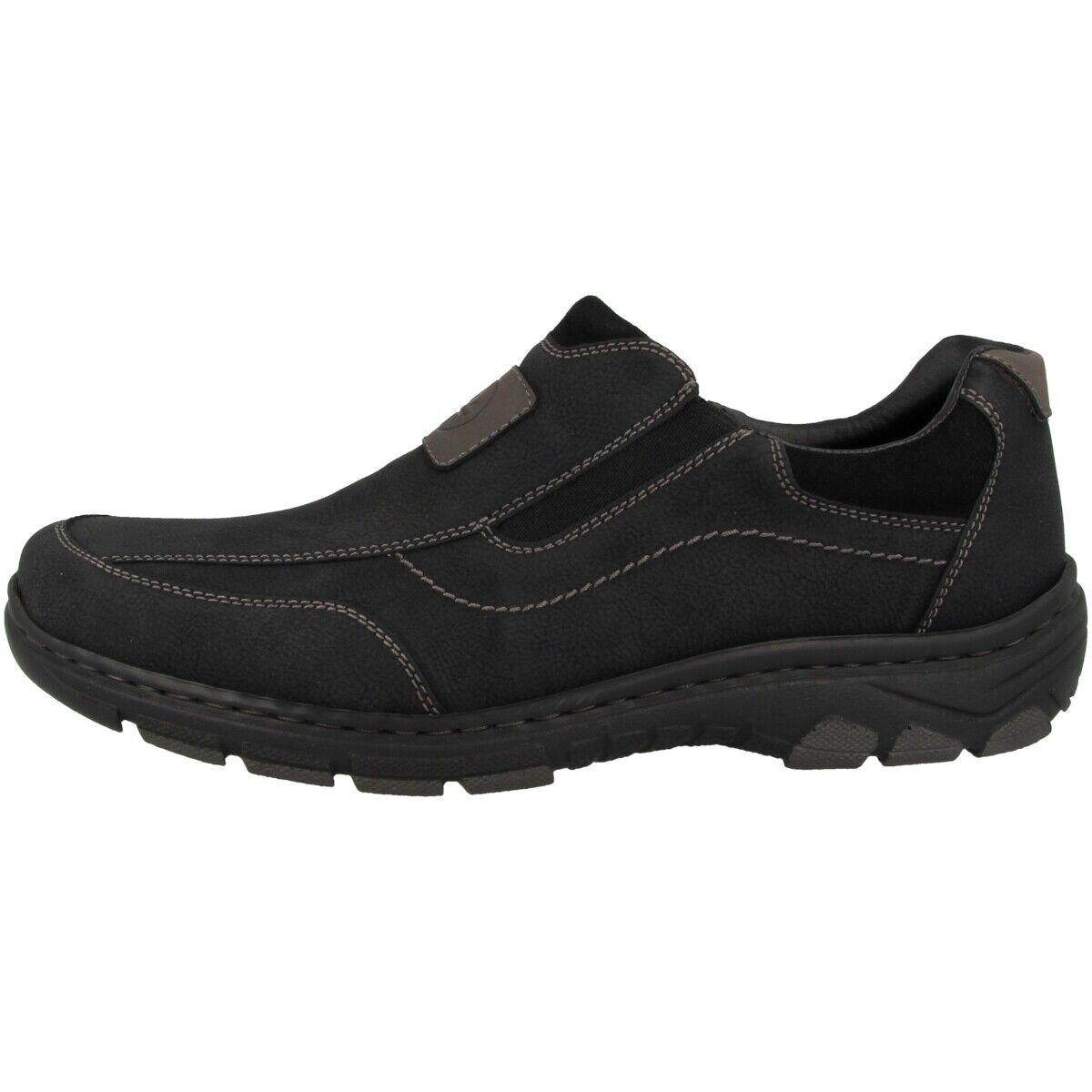 Rieker NaBlaus-Bastia-Virage Schuhe Herren Halbschuhe Antistress Slipper 19960-00