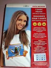 Data Becker T-Shirt Folien für helle Textillien Inkjet 11x
