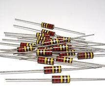 20x Kohlemasse Widerstand 220 kOhm / 1W, Carbon Comp Resistors f. Tube Amps