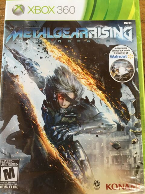 Metal Gear Rising Revengeance Xbox 360 & WalMart Bonus Soundtrack Brand New seal