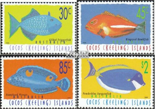 KokosIslands 350353 complete.issue. unmounted mint never hinged 1996 Fish