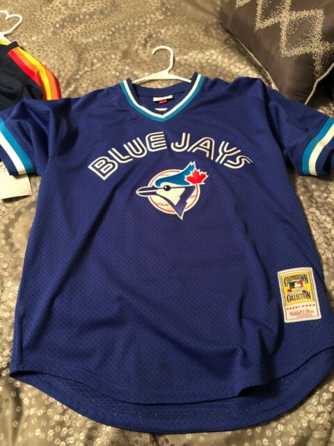 mitchell &ness cooperstown collection authentic mesh toronto blue jays jersey!