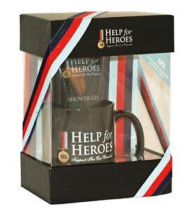 Help-for-Heroes-H4H-Tasse-amp-Kit-de-douche-pour-hommes-200-ml-cadeau-armee-forces-armees