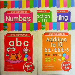 Children's Home Educational Workbook Age 3 - 6 ABC, Numbers,Addition ...