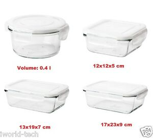 Image Is Loading Ikea FORTROLIG Food Container Series Glass Storage Lunch