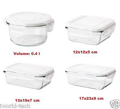 Ikea FÖRTROLIG Food Container series Glass Storage Lunch Box Organizer Fortrolig