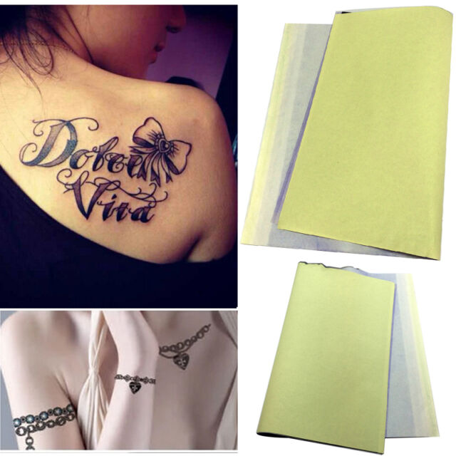 10 Sheets Tattoo Thermal Carbon Stencil Transfer Copier Paper Tracing Kit
