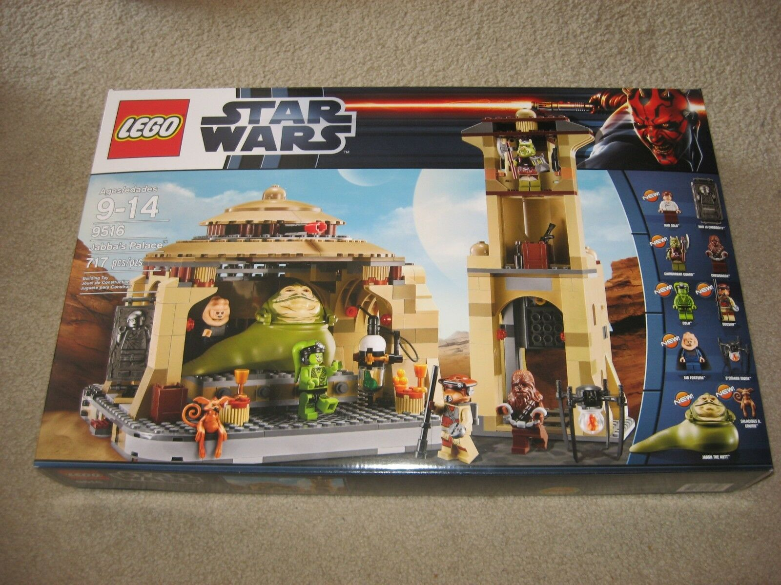 LEGO Star Wars 9516 Jabba's Palace SEALED Brand NEW