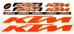 Details About Ktm Sticker Set Aufkleber Bike Fahrrad Ebike Stickers Logo Aufkleberset Orange