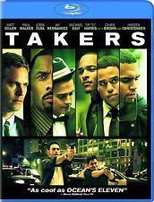 Takers (Blu-ray, 2011) regions A,B,C = ALL REGIONS