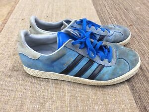 huge discount cea23 f7476 Details about MENS ADIDAS GAZELLE TRAINERS BLUE LACE UP UK 5.5 SHOES BOOTS  FOOTBALL CASUAL