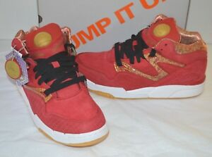 90e9c182dd05 New Reebok Pump Omni Lite Red White Black Gold Chinese Year Rat sz ...