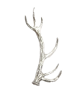 """SPRINGING STAG /""""Birds,Animals Nature/"""" Hand Made in UK Pewter Lapel Pin Badge"""