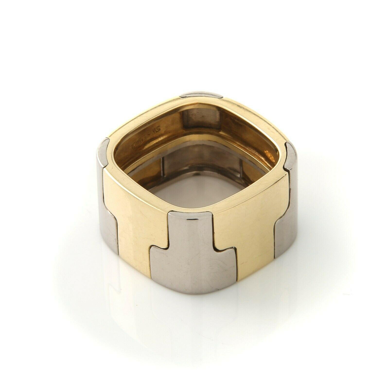 Gubelin, Contemporary, Wide 18k,Two-Tone Band - image 6