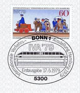 Rfa 1979: Transports Exposition De Hambourg Nº 1014 Avec Cachet De Bonn! 1a! 156-llung In Hamburg Nr. 1014 Mit Bonner Stempel! 1a! 156fr-fr Afficher Le Titre D'origine