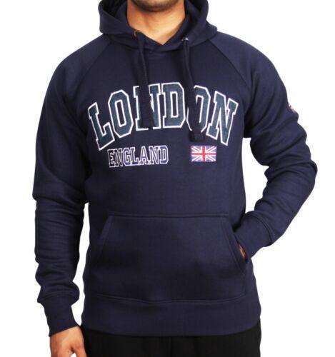 KK London Union Jack England  Pullover Hoodie Hoody Sweatshirt