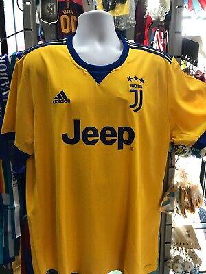 Adidas Juventus Away 2017 18 Soccer Jersey Yellow Royal Blue Size Xl Men S Only 191021292359 Ebay